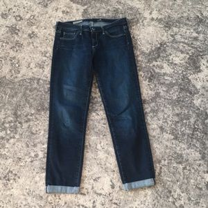 Ag Adriano Goldschmied Jeans - AG The Stilt Roll up Cropped Jean.Hidden Cove. 28